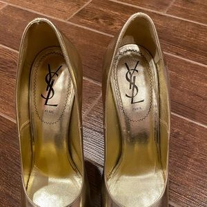 YSL tribtoo shoes, Gold size 39